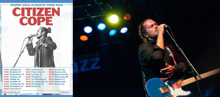 Citizen Cope at Ponte Vedra Concert Hall