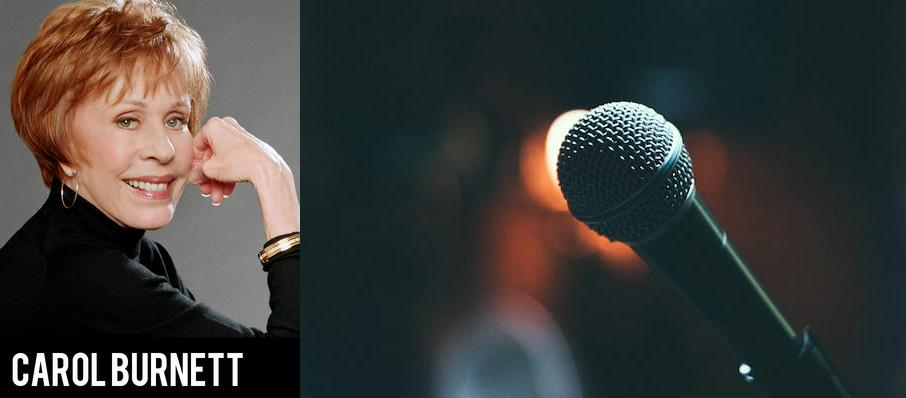 Carol Burnett at Moran Theater
