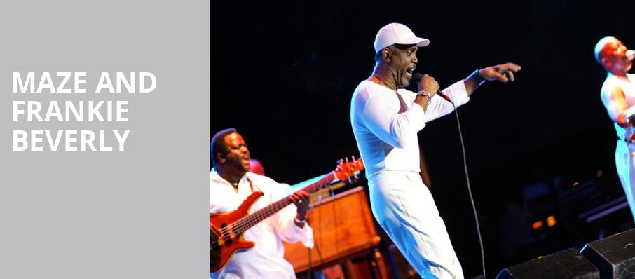 Maze and Frankie Beverly, Moran Theater, Jacksonville