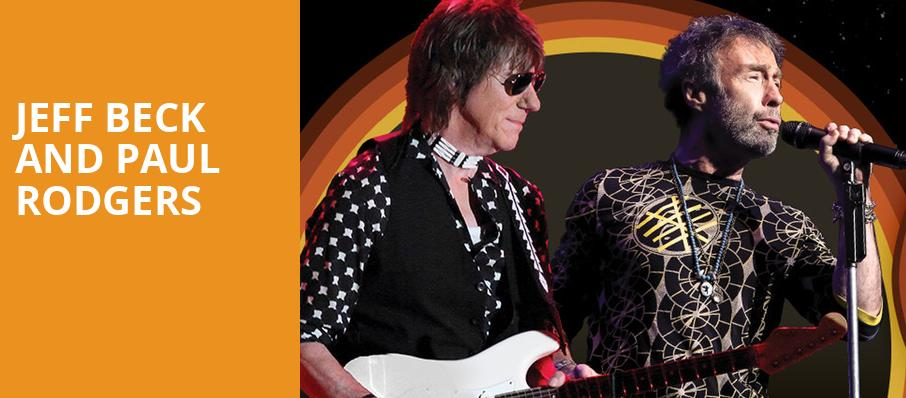 Jeff Beck and Paul Rodgers, Dailys Place Amphitheater, Jacksonville