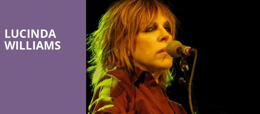 Lucinda Williams, Ponte Vedra Concert Hall, Jacksonville